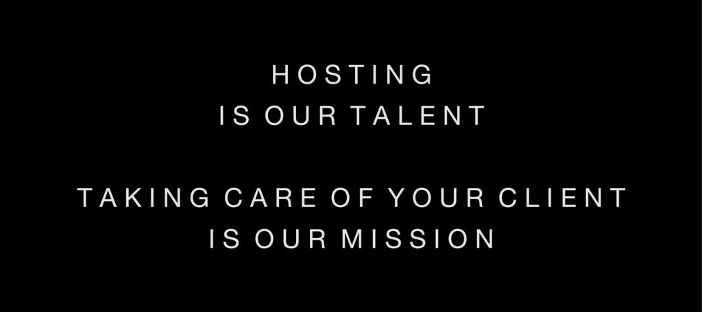 hosting is our talent